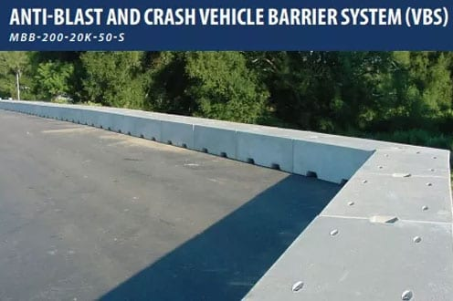 Anti Blast and Crash Vehicle Barrier System