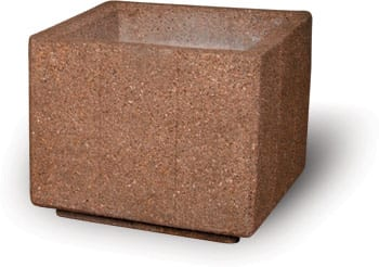 36D x 30H Square Concrete Planter