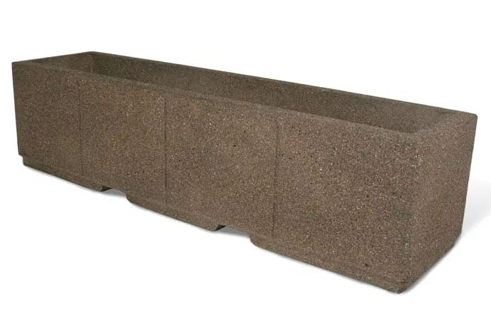 High Security Planter Barrier 96L x 24W x 24H