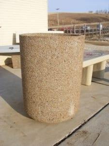 24D x 33H Round Concrete Planter