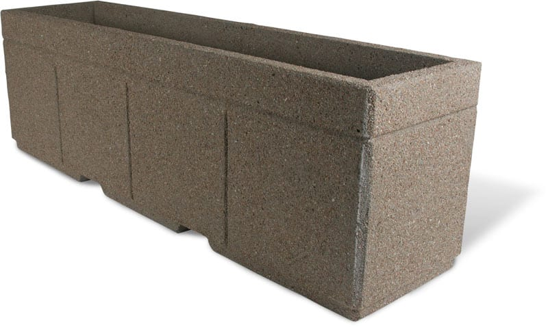 High Security Planter Barrier 96L x 24W x 30H