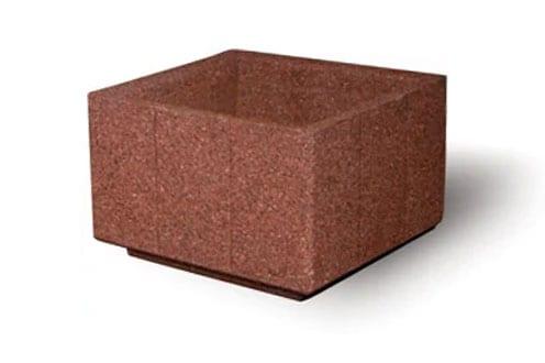 STONE-CAST Square Concrete Planter, 36″L x 36″W x 24″H
