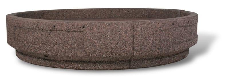 """STONE-CAST Large Round Concrete Security Planter – 72""""D x 15""""H"""