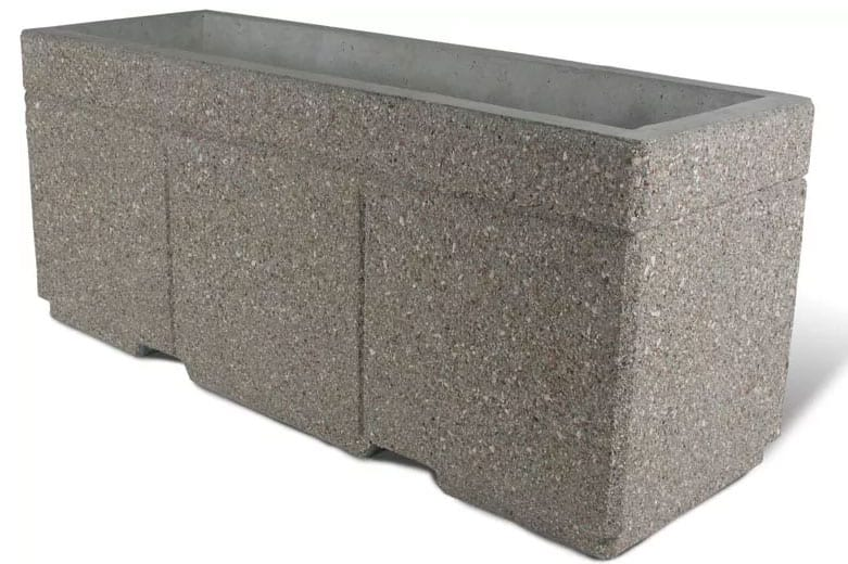 Security Planter Barricade 72L x 24W x 30H