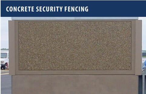 Concrete Security Fencing