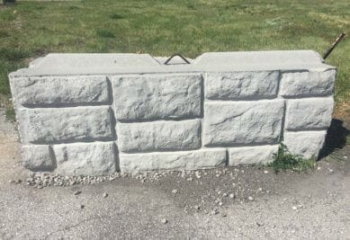 6' Deco Bin Block | 48 Barriers | Concrete Stacking Blocks
