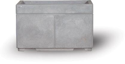 STONE-CAST 4′ Security Planters w/ Forklift Knockouts 48″'L x 24″W x 30″H