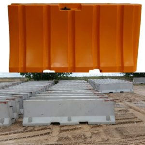 Part 2 of 2: Plastic Water Filled Barrier vs. Concrete Jersey Barrier: Pros & Cons