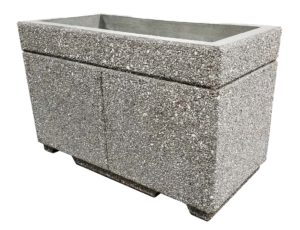 STONE-CAST 4′ Security Planters w/ Forklift Knockouts 48″'L x 24″W x 30″H